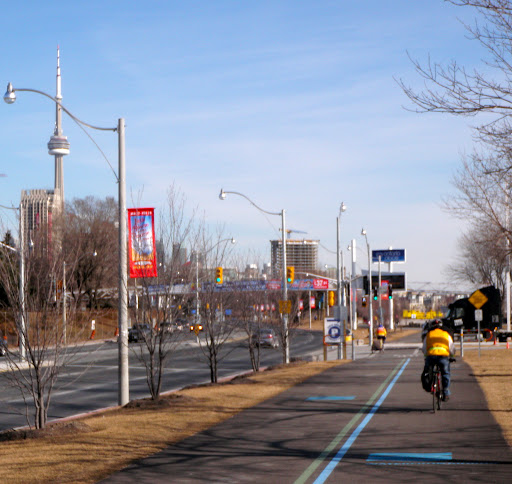 The new section of the Martin-Goodman near Ontario Place