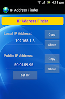 Screenshot of My IP Address Finder