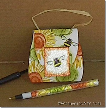 Sunflower Pen & PIN Purse Cropped