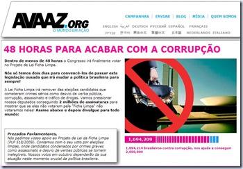 Avaaz Combate à Corrupção