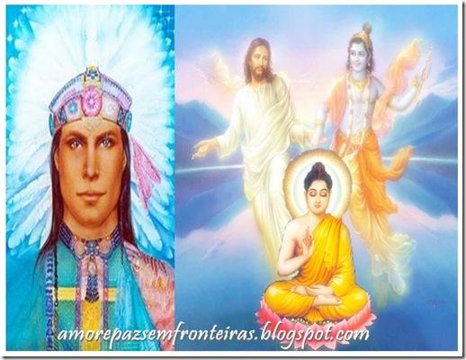 Cristo Buddha Krishna Caboclo Pena Branca