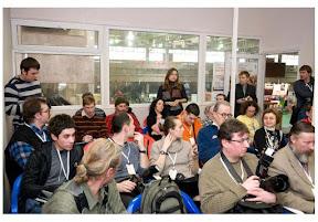 И.Налимов и Л.Филина на пресс-конференции по случаю открытия