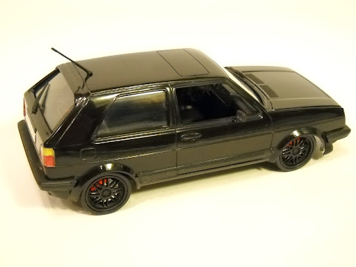 1989 VW GTI, schwarz wie die