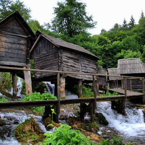 Plivska Lakes by Suzana Svečnjak - City,  Street & Park  Historic Districts ( pliva, jajce, lakes, river )