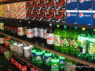 Soda Aisle in Food Cellar in Long Island City, NY - Photo by Taste As You Go