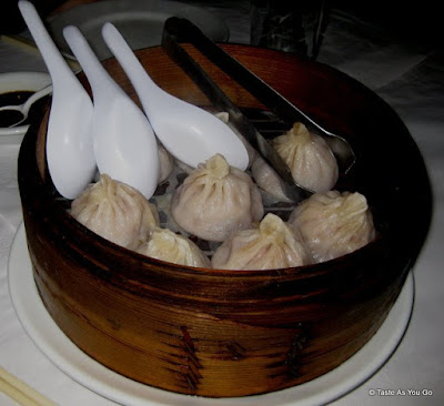 Pork Soup Dumplings at Grand Sichuan St. Marks in New York, NY - Photo by Taste As You Go