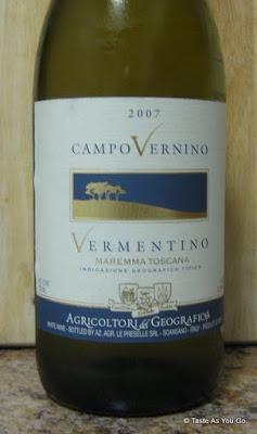 Geografico 2007 Campo Vernino Vermentino - Photo by Taste As You Go