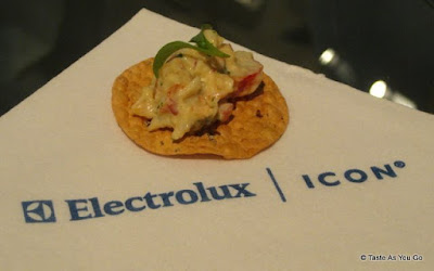 Lobster Salad on a Lentil Wafer - Photo by Taste As You Go