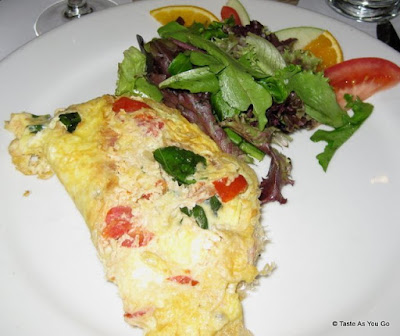 Tomato and Basil Omelette at La Giara in New York, NY - Photo by Taste As You Go