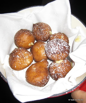 Fried Cream Puffs at the Foodbuzz Cocktail Party at David Burke Townhouse   Taste As You Go