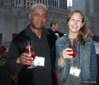 Lewis and Megan at the Ocean Spray Party - Photo by Taste As You Go