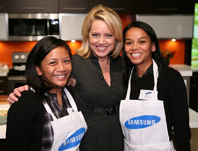 With Food Network's Melissa d' Arabian at Samsung