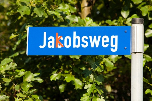 Jakobsweg bzw. Jacobsweg, Erfurt-Schmira
