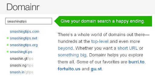 useful Domain tools