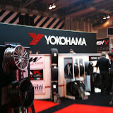 yokohama tyre stands at autosport show 2011