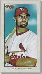 Pujols 2009 SP Mini