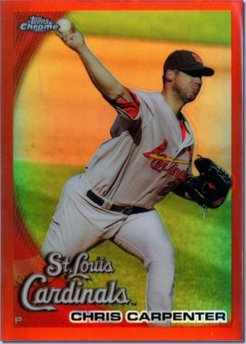 2010 Topps Chrome Carpenter Orange Refractor