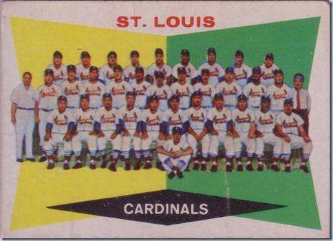 1960 Topps Cardinals