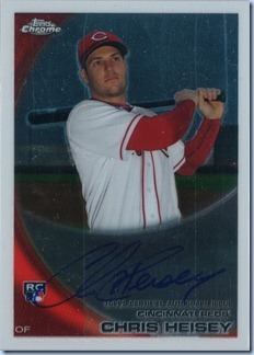 2010 Topps Chrome Heisey Rookie Auto