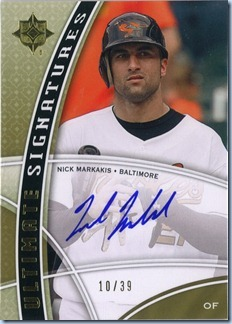 2009 Upper Deck Ultimate Markakis Auto 10 Of 39