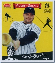 2006 Fleer Trad Giambi Goudey