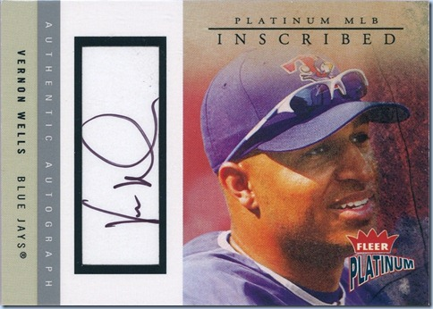 2004 Fleer Platinum Wells Auto 180 of 200