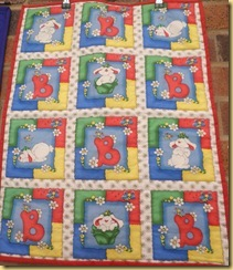 Red B childs quilt