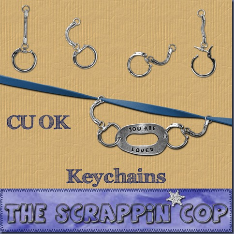 "Free ""Keychains"" from The Scrappin Cop - {CU}"