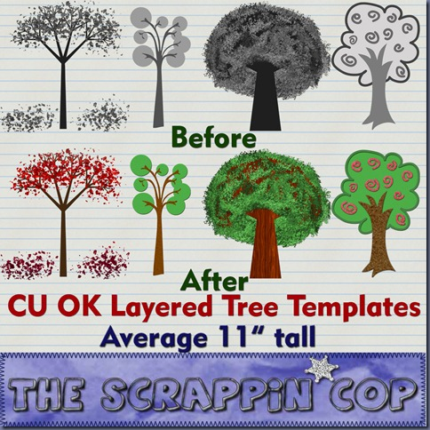 http://thescrappincop.blogspot.com/2009/10/cu-ok-tree-templates-part-ii.html