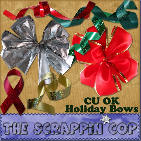 http://thescrappincop.blogspot.com/2009/11/cu-ok-holiday-bows.html