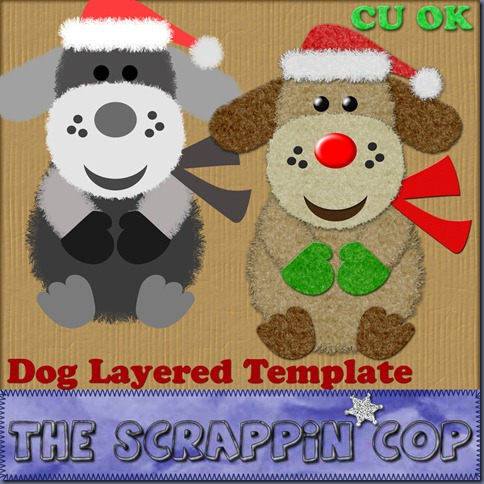 http://thescrappincop.blogspot.com/2009/12/cu-ok-christmas-dog-layered-template.html