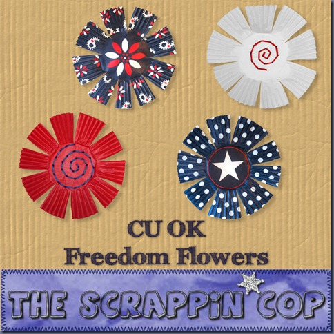 "Free ""Freedom Flowers"" from The Scrappin Cop - {CU}"