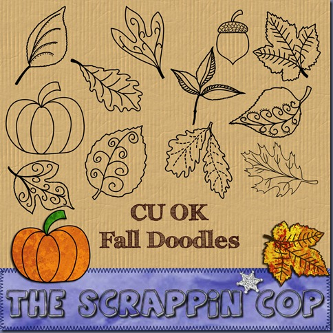 "Free ""Fall Doodle"" from The Scrappin Cop - {CU}"