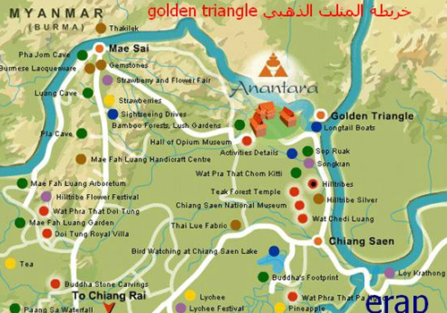 خريطة شنغماي - المثلث الذهبي
