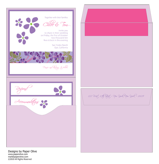 pink and playful purple invitation concept by paper olive