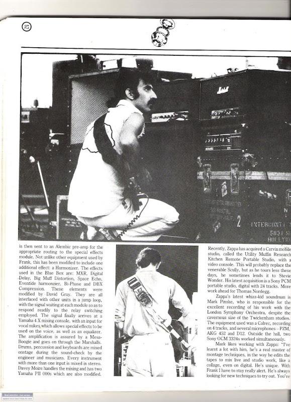 Frank Zappa Gear
