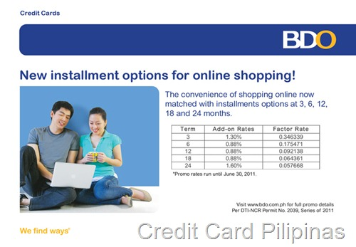 BDO Online Installment