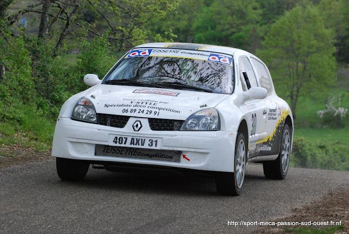 Cédric TEISSEYRE / Valérie TIRBOIS - Clio RS F214 Rallye%20du%20Quercy%202010%20303