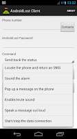 Screenshot of AndroidLost Client