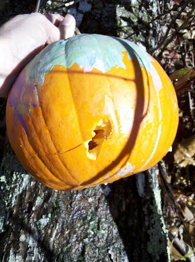 Test 1: Pumpkin entry hole