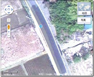 航空写真山武市道路損壊状況