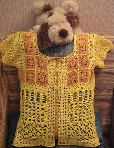ملابس كروشيه للبنات جديدة Bluza_amarela.jpg