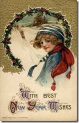 Schmucker-New-Year-Vintage-Postcard