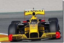 Robert Kubica sulla Renault