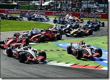 La chicane sul circuito di Monza