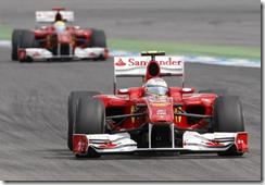 Le due Ferrari al gran premio di Germania 2010