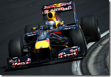 Vettel con la Red Bull