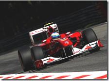 Alonso durante le qualifiche del gran premio d'Italia