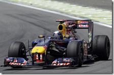 Vettel nelle prove libere del gran premio del Brasile