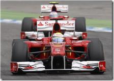 Massa davanti ad Alonso nel gran premio Germania 2010